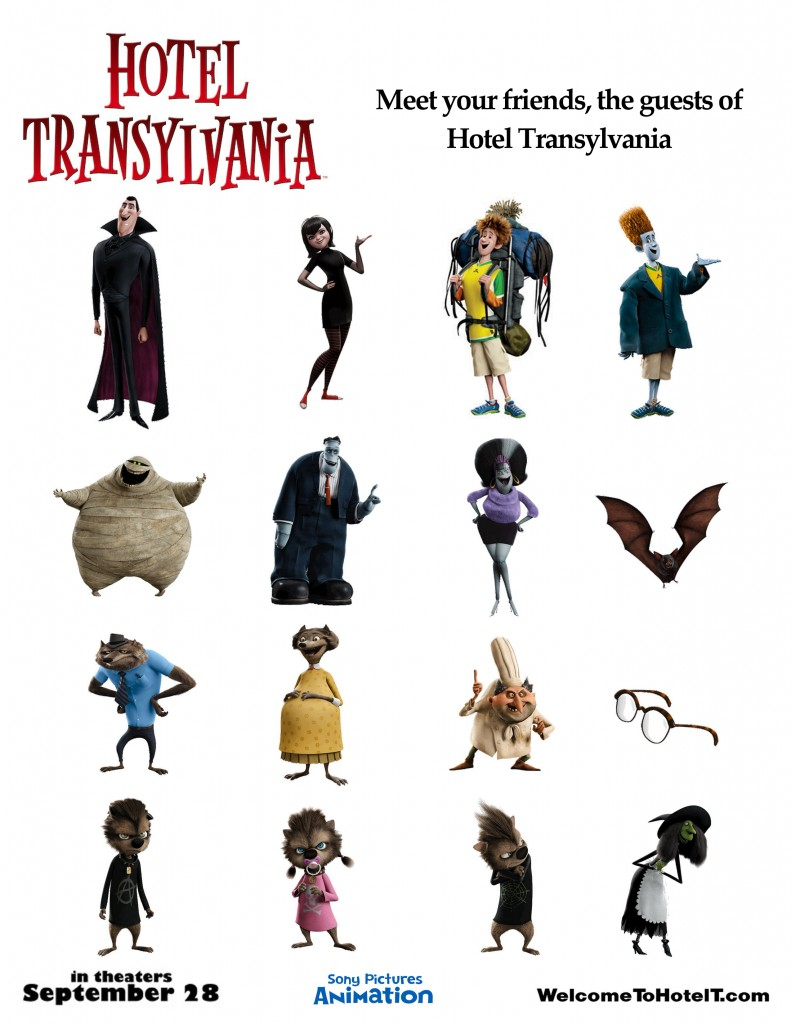 Hotel transylvania 2d 3d plus bethany and alex have fun for Character hotel