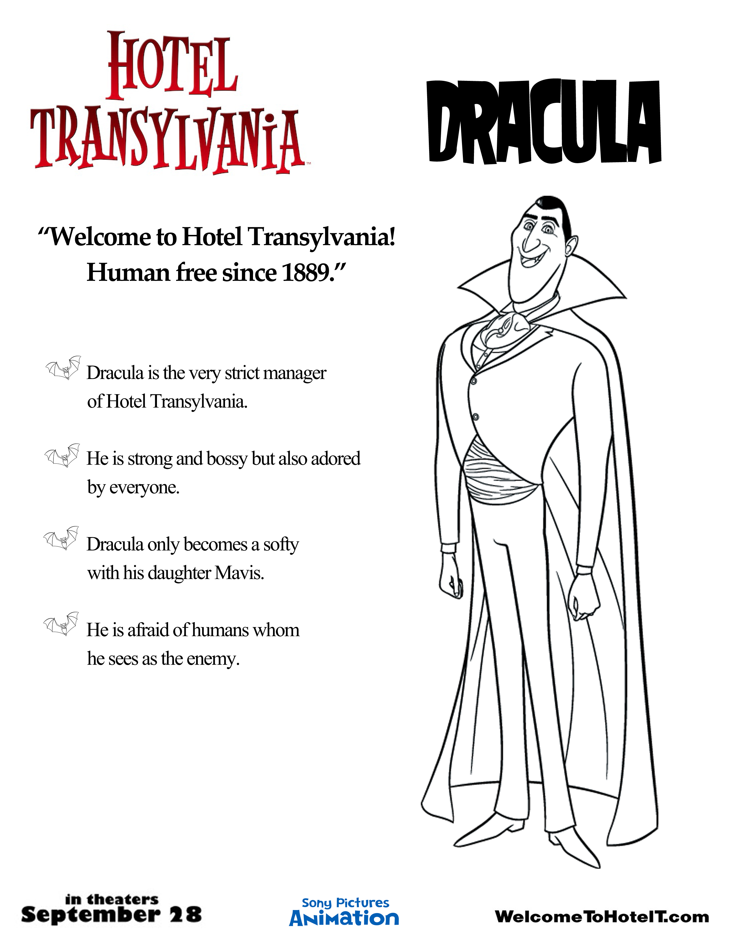 Colouring pages hotel transylvania - Latest
