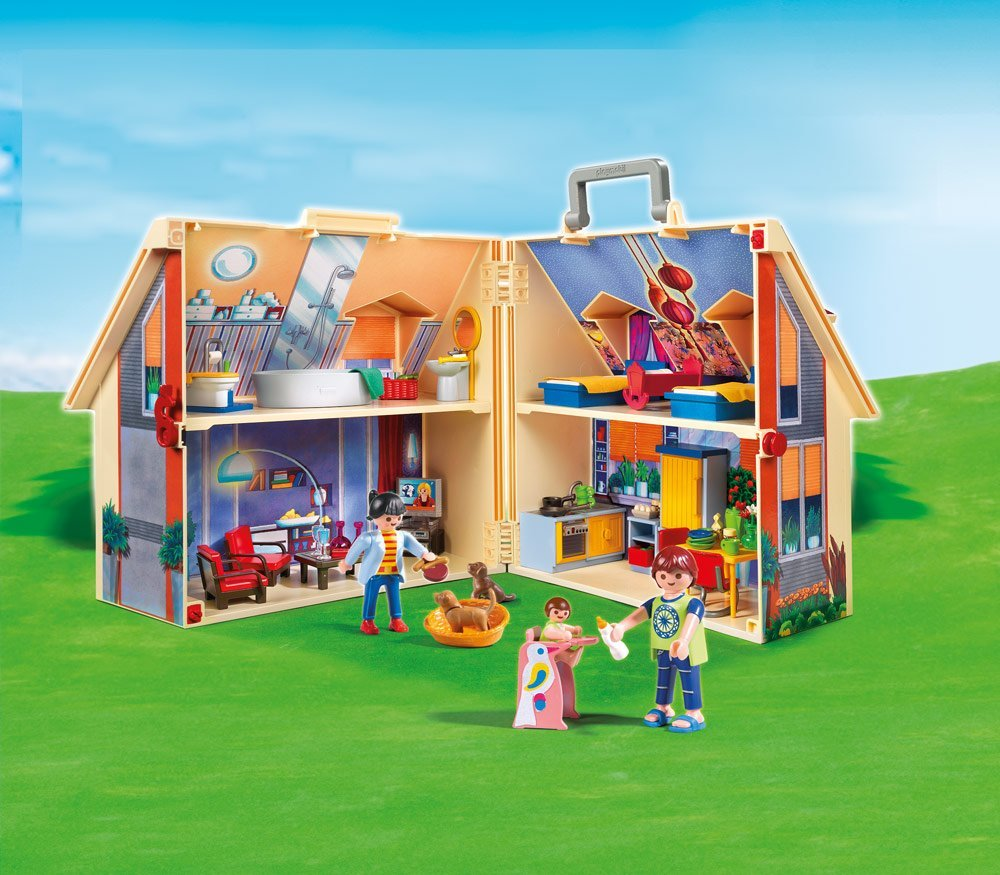 Playmobil take along modern dollhouse - Maison playmobil en bois ...