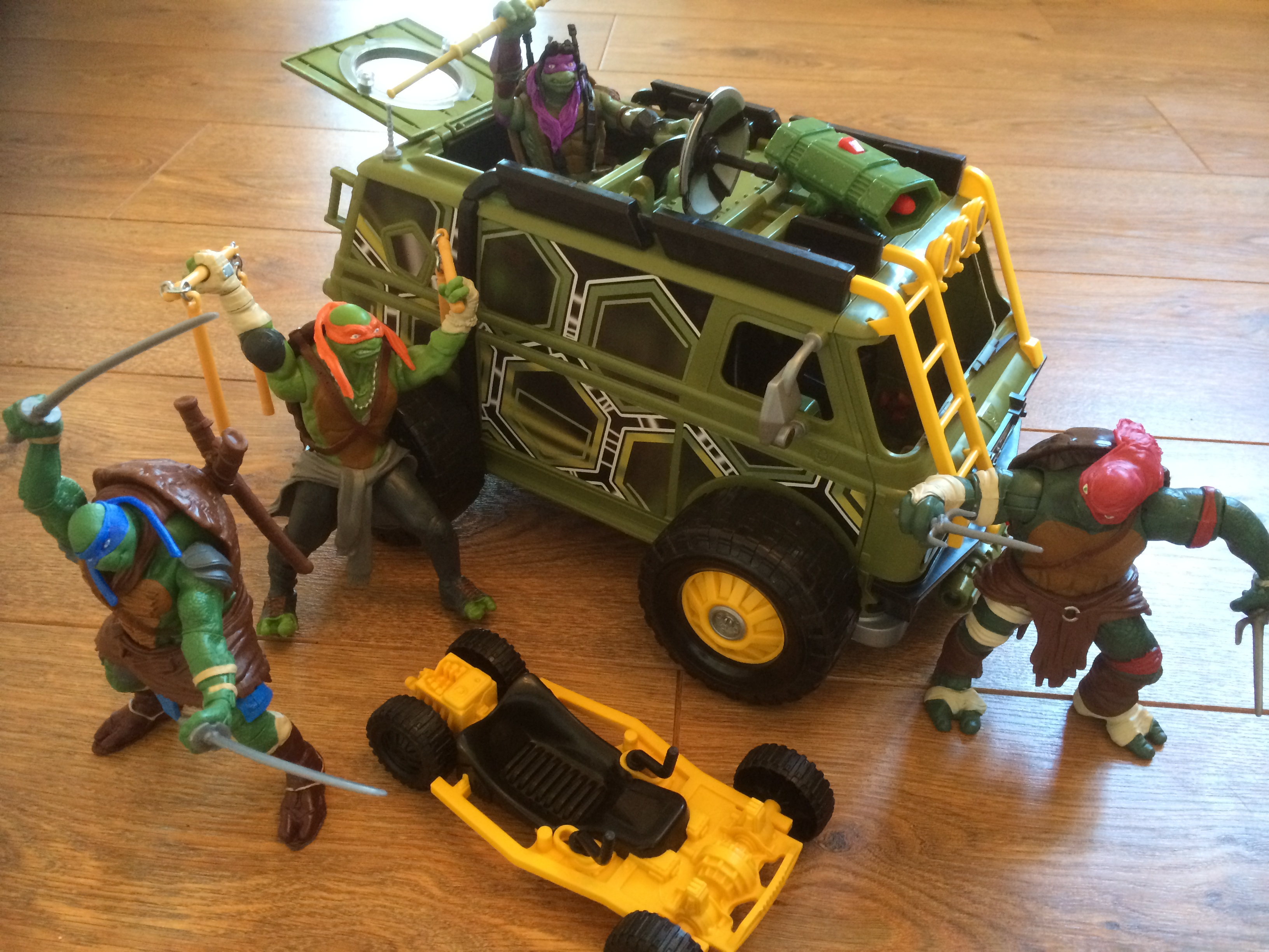Ninja Turtles Toys : Ninja turtles the movie figures and vehicles