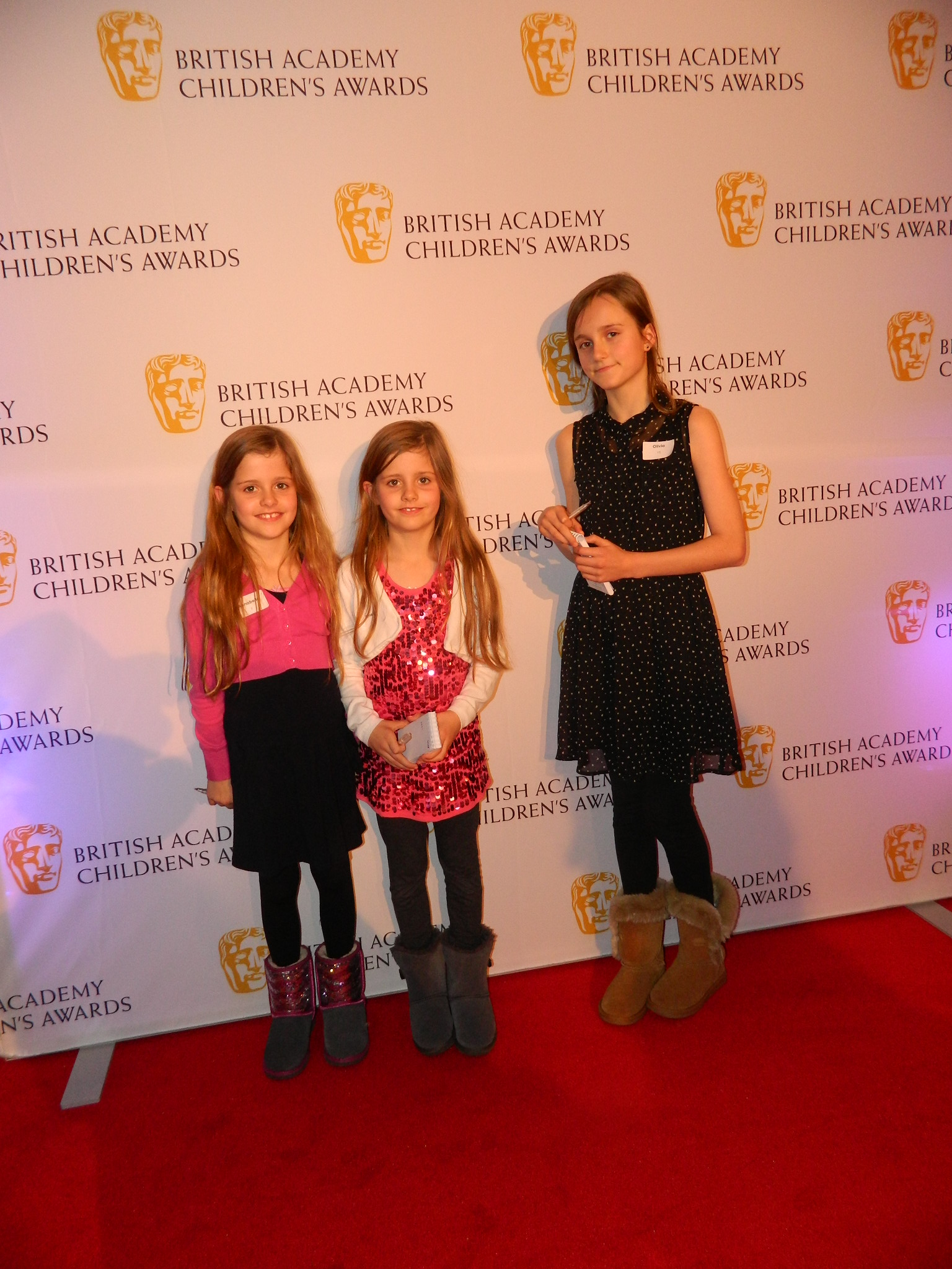 bafta kids red carpet experience with aampe and big sister
