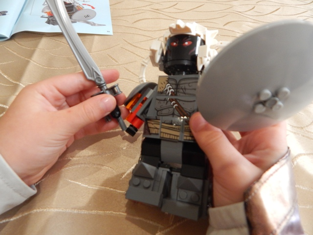 lego wonder woman warrior battle instructions