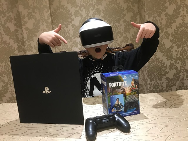 PlayStation 4 Pro Console 1TB with Fortnite Royale Bomber Pack