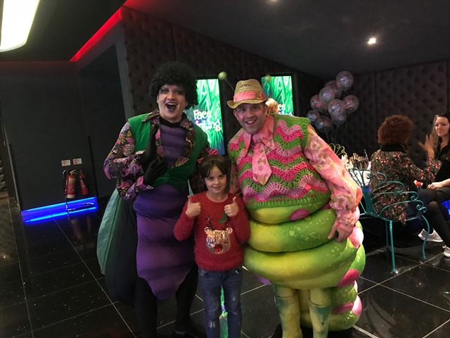 bex meets the stars at the cbeebies thumbelina london